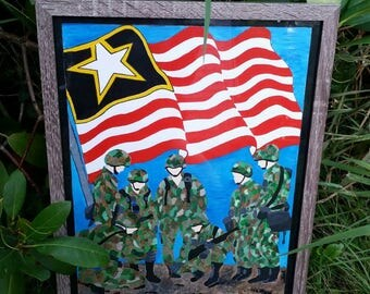 Support Our Troops- Painting