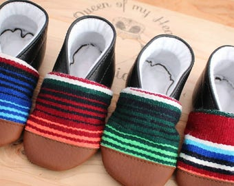 Mexican Sarape Booties serape baby shoes baby booties real serape shoes toddler shoes play shoes baby crib shoes baby shower gift baby girl