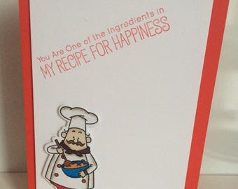 Handmade card - recipe for happiness