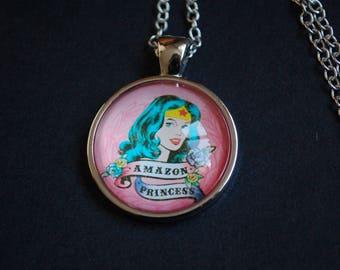 Amazon Princess Wonder Woman necklace