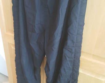 Champion Black Tear Away Pants Large Mens Vintage Champion 90s 80s Reverse Weave