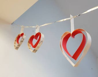 DIY Paper Heart Garland Kit
