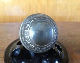 Antique Silver / Nickel Victorian Doorknob