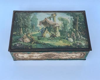 Antique Colonial Canco tin box