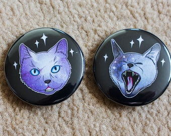 Galaxy Cats Two Badges - 38mm