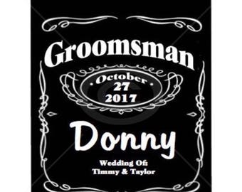 Groomsmen Alcohol Label-Groomsmen Jack Daniels Label-Custom Alcohol Label-Bridal Party Gift-Groomsmen Gift