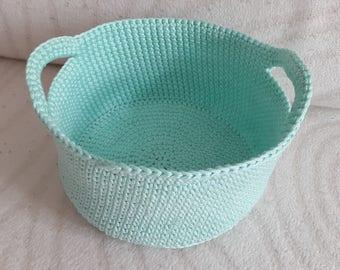 Handmade Crochet Storage Basket, Decorative Storage, Cotton Basket, Dekorative Korb