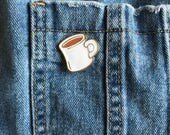 Cup of tea - pin badge...