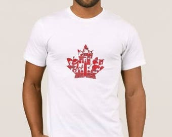 Canada Shirt - Canada T-shirt - Maple Leaf Shirt - T-Shirt for Men or Women - Canada 150 Shirt - Canada Day - Canadian Pride