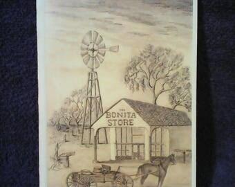 BONITA STORE, Built in 1802 Greeting Card