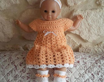 whole dress, booties and baby crochet headband