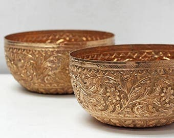 Vintage Antique Brass Bowls