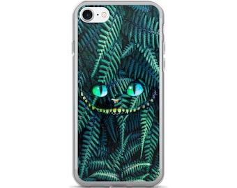 Cat iPhone 7 Case, iPhone 7 Plus Case, Alice in Wonderland iPhone Case, Cheshire Cat iPhone Case, Plant iPhone Case, iPhone Case