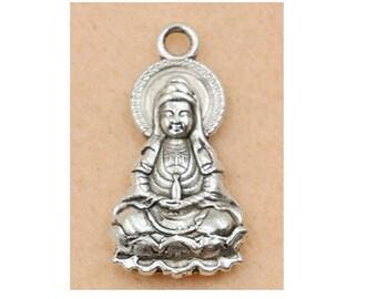Silver Buddha (D30) 3D charm