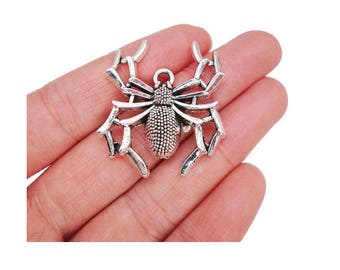 hope (D49 silver halloween spider charm
