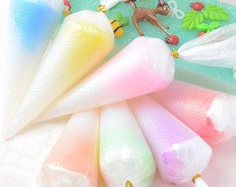 50g 7 Colors Rainbow Mermaid Transparent Jelly Whipped Cream for 3D phone case Handmade DIY