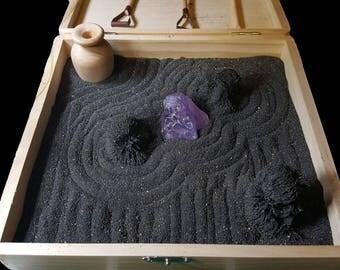 Deluxe Magnetic Zen Garden Zen Box, Tabletop/Desktop Zen Garden Kit for Relaxation, Stress Relief, Creativity and Magnetic Science