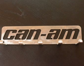 Can Am key rack, atv, offroad, side by side, spyder, quad, maverick, braap, hat rack, metal key holder, metal key rack, metal wall art