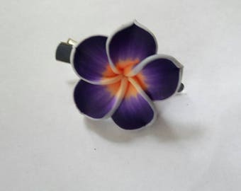 Purple tropical Hawaii flower clip. Bride, bridesmaid, holiday wedding, bridal, flowers.