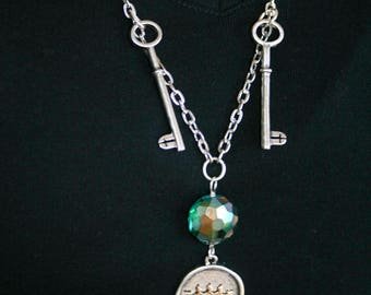 Gypsy Giver Coin and Keys Necklace