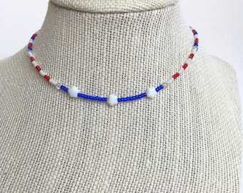 Stars and Remembrance Choker | Memorial Day | July 4th