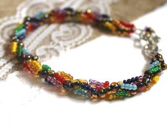 Colorful bracelet Bead bracelet Bracelet from beads Bracelet rainbow Rainbow bracelet Bracelet Seed bead bracelet Girlfriend jewelry ideas