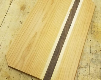 Wood Cutting Board with Cherry, Walnut and Maple