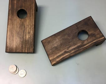 Set of 40 Mini Cornhole Boards - Mini Coinhole Game - Cornhole for Quarters