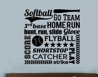 Baseball Sports Wall Decal