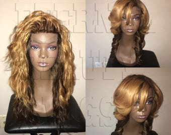 Brazilian Two-Toned Hair Ombre Wig