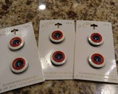 RESERVED. Vintage Le Chic Red, White, and Blue Buttons Assorted Sizes