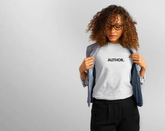 Author tee shirt, author swag, vanity tee-shirt, Vanity T, Author Tee, Tee Shirt for Authors, Writers, Published writers Vanity Tee