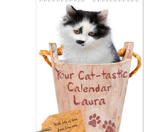 Personalised Your Cat-tastic A4 Wall Calendar Gifts Ideas For Her Girls Womens New Home House Warming Years Kitchen