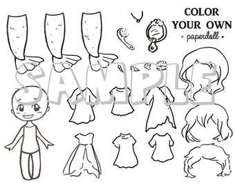 DIGITAL FILE Color Your Own Mermaid