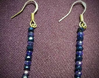 Shades of Blue Beaded Earrings