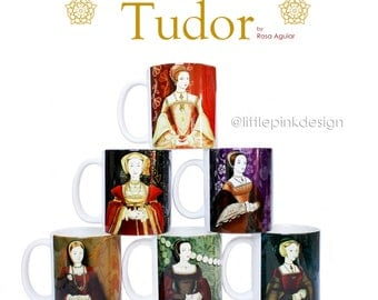 Set of three ceramic mug -  Tudor Consort