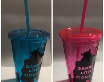 monsters inc. little monster cup with straw