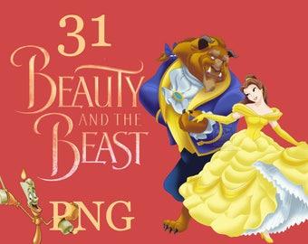 Beauty and the beast  | clip art | nursery decor | party invitations | birthday invitations | birthday party decor | girl decor | boy decor