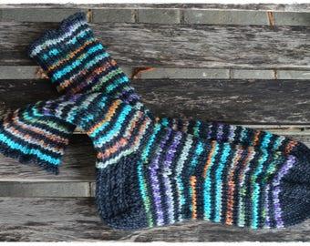 Cozy superwarm socks, size UK 6,5-7,5 US 8,5-9,5, knit from OPAL sock yarn 8ply ∞ X-Large