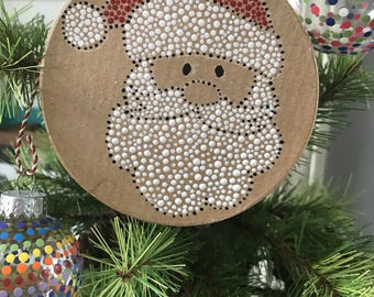 Christmas Ornament with Santa painting perfect Holiday gift