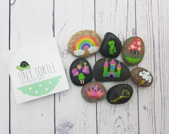 Fairytale story stones, story telling set, princess story, birthday gift, unique gift, children's gift, handpainted gift