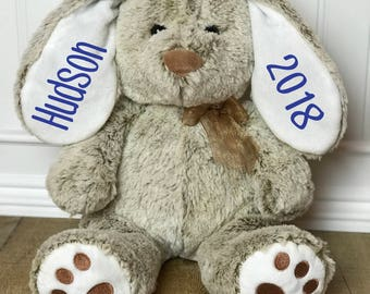 Personalized Easter Bunny,  Personalized Easter gift, Brown bunny, Stuffed bunny, Easter Rabbit, Stuffed animal, Personalized Rabbit, Easter