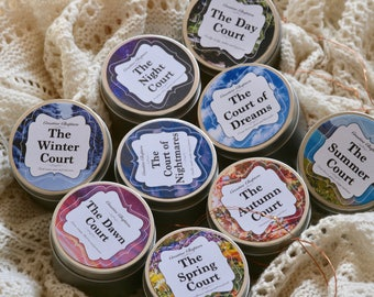 SALE   ACOTAR Courts   A Court of Thorns and Roses Inspired   Handmade Soy Candles