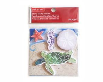 Sticky Notes for Planners and Scrapbooking - Sea Turtle / Seahorse / Starfish / Sand Dollar