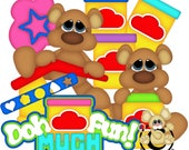Play Doh Collection, vector graphics, digital clipart, digital images, scrapbooking, instant download
