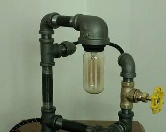 Industrial Pipe Lamp; Pipe Lamp; Edison Lamp, Desk Lamp, Table Lamp
