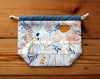 Projectbag flowerbed drawstring