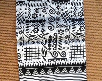 Indian Pure Silk Saree/ Sari , Black and white color