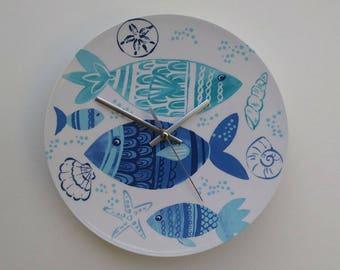 Clock Fish Melamine Plate
