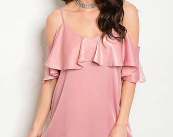 Blush Dress/ Dress/ Casual Dress/ Summer Dress/ Simple Dress/ Clothes/ Fashion Clothes/ Pink Dress